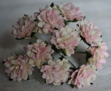 LIGHT ROSY PINK ASTER Daisy (1.3 cm) Mulberry Paper Flowers